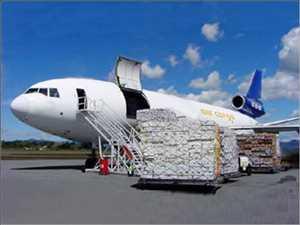 Servicios de transporte de carga aérea